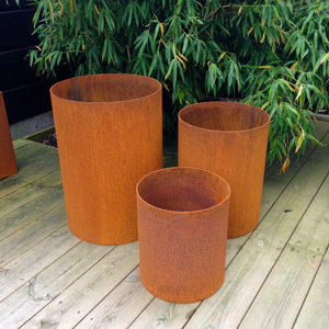 Boberg - planteringsrör corten 600