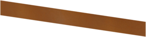 Basic - kantstöd corten 3000X150 (3 mm)