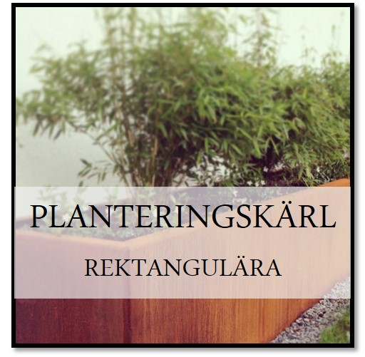 Planteringskärl rektangulär corten
