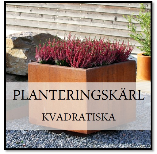 Planteringskärl Kvadratisk Corten