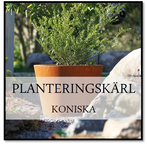 Planteringskärl Koniska Corten