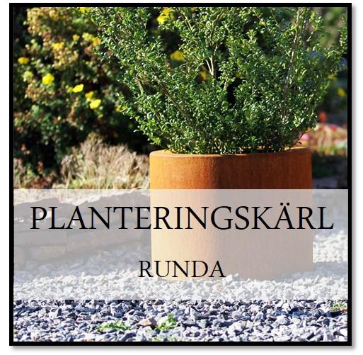 Planteringskärl runda corten